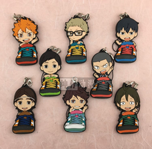 Haikyuu! Sneaker Version Anime Karasuno High School With Volleyball Rubber Resin Keychain Pendant