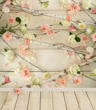 5ft*6.5ft Newborn Photography Background Flower Over the Wall Backdrops Flooring Vinyl Photos Backgrounds for Studio Baby Photos