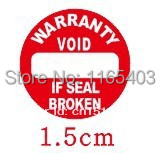 Free shipping Fragile stickers Warranty card Tear is invalid Product labeling 3000pcs/lot 1.5cm,(China (Mainland))