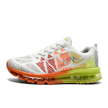 2016 Mens Running Trainers Sale Summer/Autumn Mens Trainers Top Brand Orange/White Shoes Men Sport Air Damping Walking Shoes Men