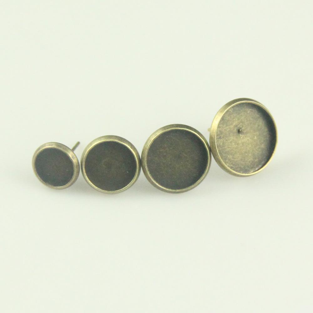 Здесь можно купить  Diy accessories ancient bronze time gem stud earring pallet stud earring single sj104  Ювелирные изделия и часы