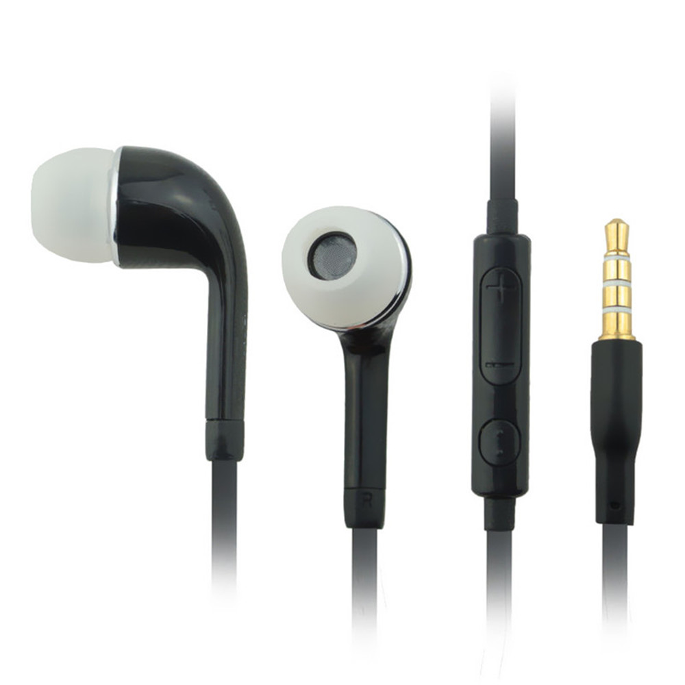 Hot selling Earphone With Volume Line Control Unit and Mic For Samsung Galaxy S2 S3 S4 S5 Galaxy Note Black(China (Mainland))