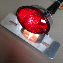 Motorcycle accessories Red License Plate Brake Tail Light For Ducati Monster Universal Cruiser Street(China (Mainland))
