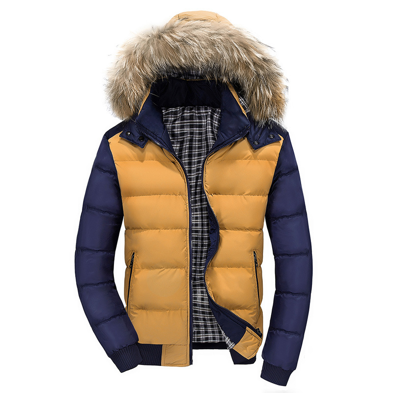 Casual Wadded Jacket Down Cotton Coat Windproof Winter For Men Male Models Picture