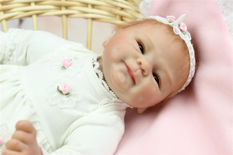 New 18Inch Dolls Lifelike Reborn Baby with Limbs And Head Made by Imported Soft Silicone Used As A DIY Birthday Gift Brinquedos(China (Mainland))
