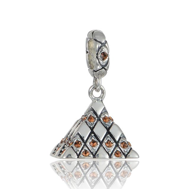 925 - серебристо-ювелирные бусины французский мотаться CZ бусины Fit Chamilia пандора браслеты серебро 925 мода DIY