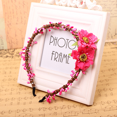 Free Shipping Camellia Flower Headband Girl Hair Accessories Women Fashion Hair Wreaths Boho Women Wedding Party