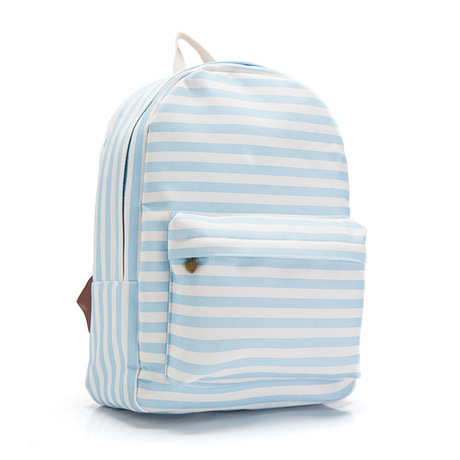 2015 fashion girls school bags kids canvas backpack stripe vintage student book bags women computer bags travel bags(China (Mainland))