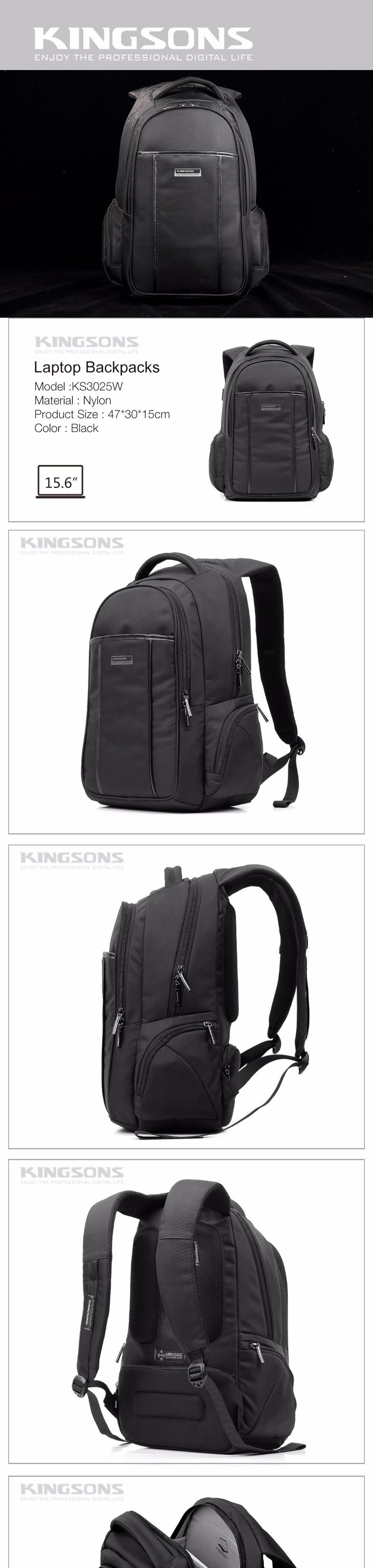 15.6 Laptop Backpacks Vintage Bag Men's Backpack Women Rucksack Waterproof Nylon SchoolBag Fashion Mochila Black Drop Shipping