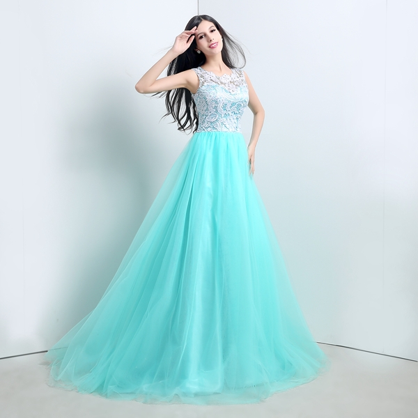 Mint green cheap prom dresses - Dress on sale