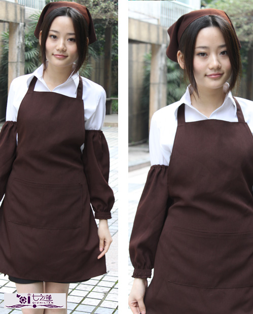 Work wear apron coffee akishino cardan fabric work aprons 7095609(China (Mainland))