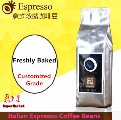 High Quality Italy Coffee Beans Imported Raw Coffee Bean Freshly Baked Italian Espresso Slimming Green Coffee