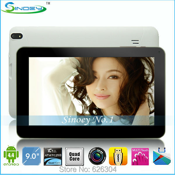 Best Price 9 Inch ATM7029B Quad Core Android 4.4.2 Dual Camera 512MB 8GB WIFI 802.1 HDMI 1080P External 3G Tablet pc(China (Mainland))