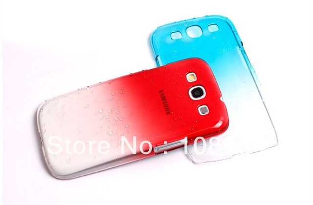 3D Raindrop Design Hard Case Cover For Samsung Galaxy S3 S III I9300 Free Shipping 100pcs