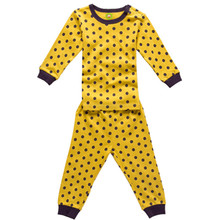 2015 spring and autumn new styles kids clothes sets girls and boys polka dots long sleeve tops long pants cotton sets DPP3522(China (Mainland))
