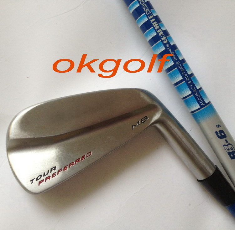 2014 new golf irons MB Forged irons set with tour AD stiff graphite shafts golf clubs irons(China (Mainland))