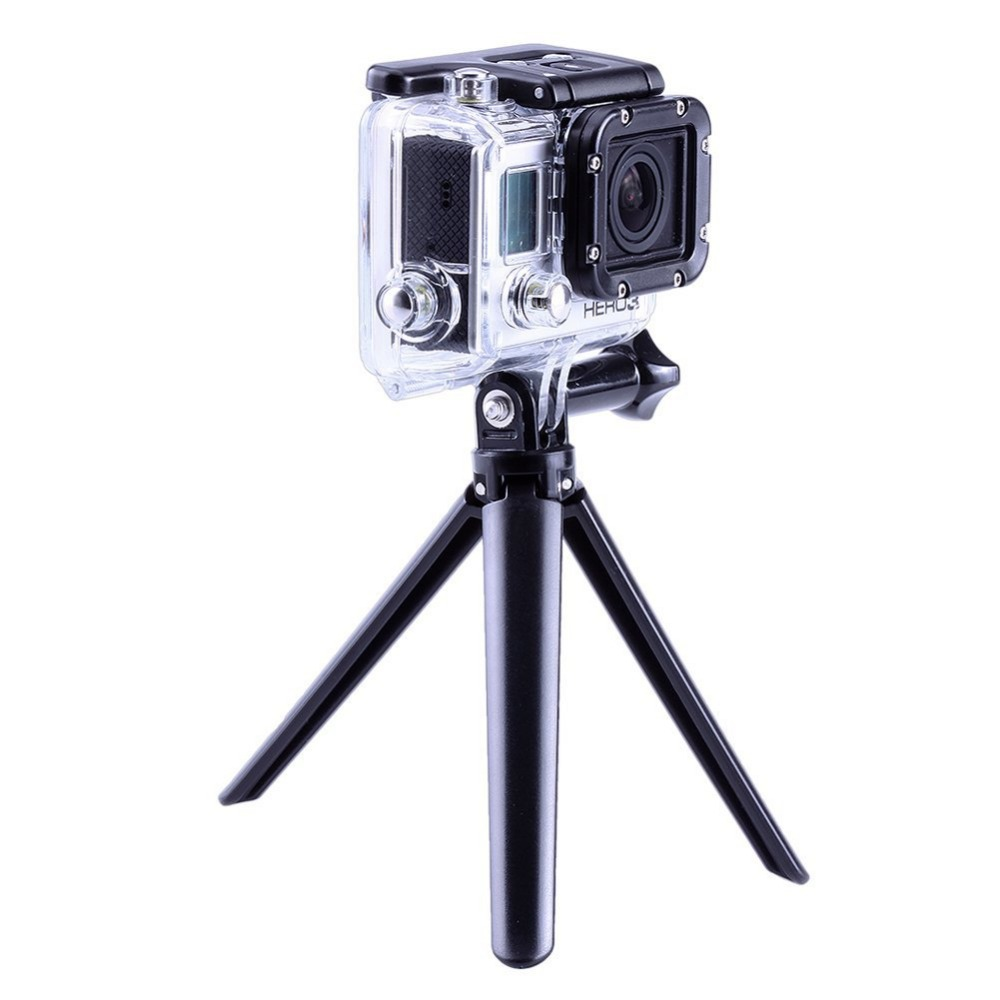 GoPro Accessories Collapsible 3 Way Monopod Mount Camera Grip Extension Arm Tripod Stand for Gopro Hero