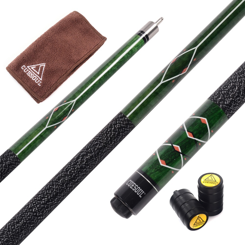 Cuesoul CSPC013 58 inch Canadian Maple Wood 1/2 Jointed Pool Cue Stick Billiard Cue Cue From Billiard Accessories Supplies(China (Mainland))