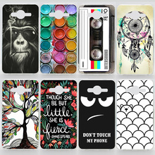 Case For Samsung Galaxy Core 2 G355H Transparent Coloured Drawing Phone Cover For Samsung G355H Plastic Hard Phone Cases