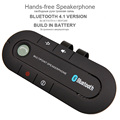 Bluetooth Speakerphone Kit Hands free Wireless Bluetooth 4 1V Slim In Car Kit Visor Clip For