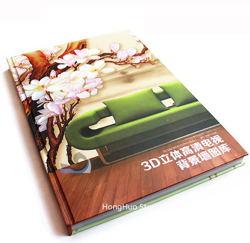 2015 Large mural 3D HD TV Background Wall Gallery Printing PSD/CDR Layered Gallery Material/Templates(Design book + 6DVD)(China (Mainland))