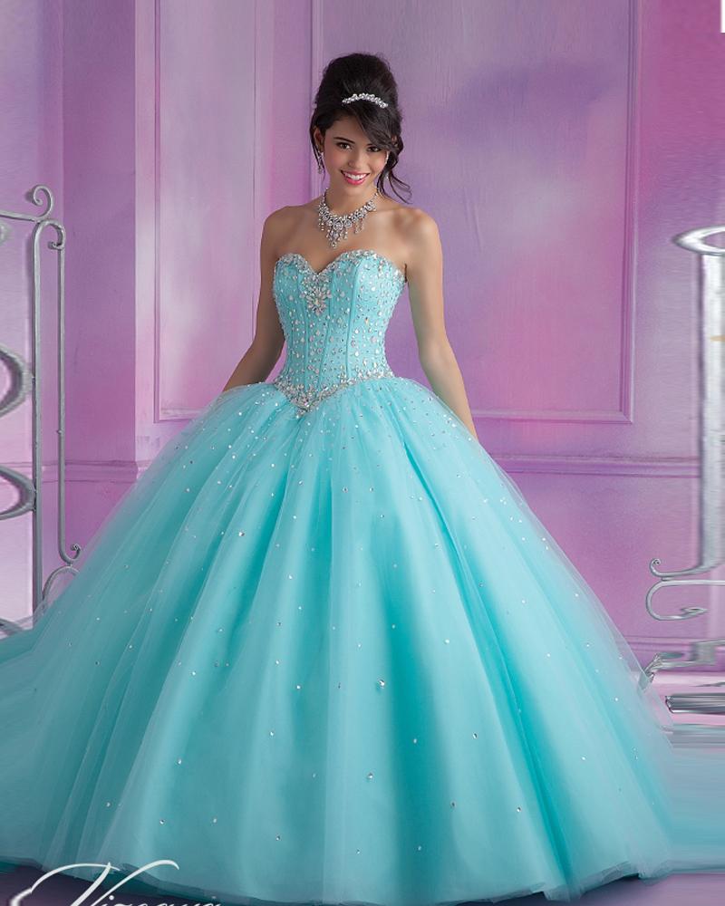 vestidos de 15 anos de debutante turquoisepink