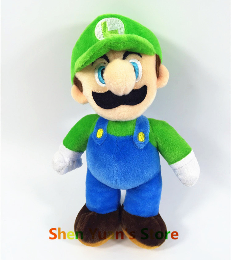 Super Mario Luigi Plush Toy Doll 26cm 10inch Big Size Yoshi Toy Doll 2015 New Free Shipping High Quality baby toy(China (Mainland))