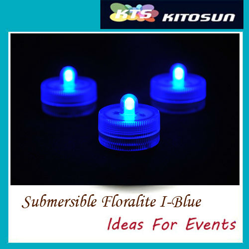 120pcs Blue color Unique Design Wedding Centerpiece Decoration 2pcs Battery Operated Waterproof Mini LED Lights(China (Mainland))