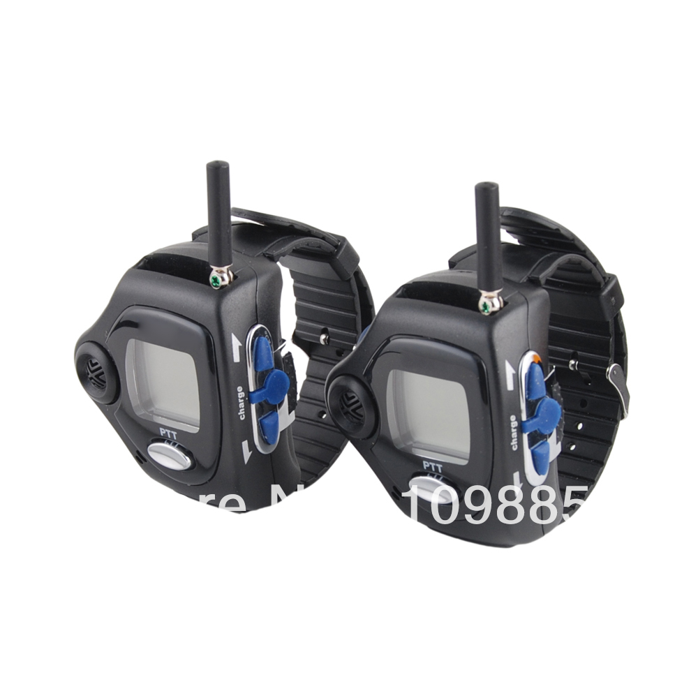 20 Channel Wrist Watch Style Walkie Talkie with Rechargable Li-ion Battery and Big Backlit LCD Screen, 1 Pair, 2-Way Radio(China (Mainland))