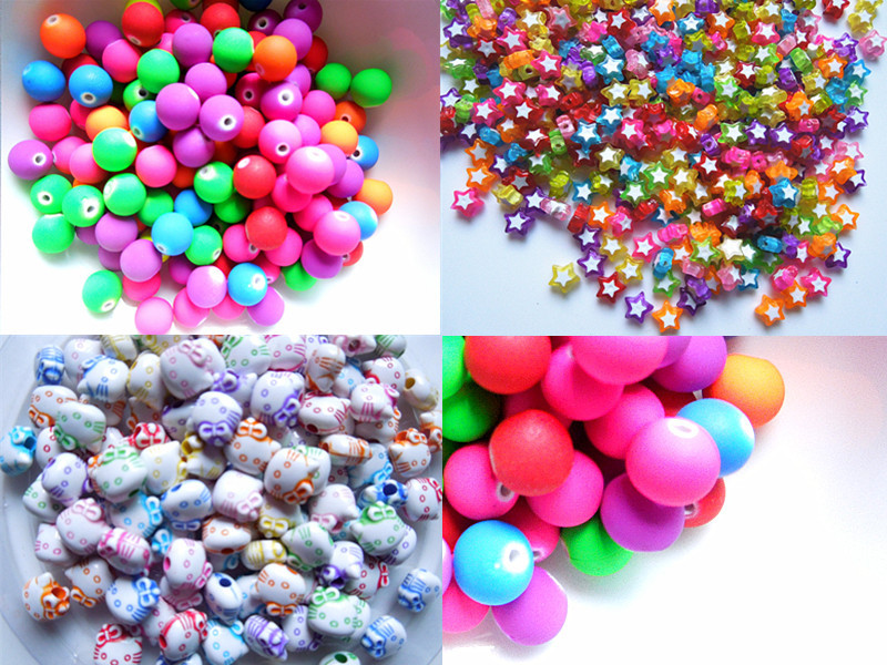 Free shipping acrylic resin bead diameter of colors and crack(China (Mainland))