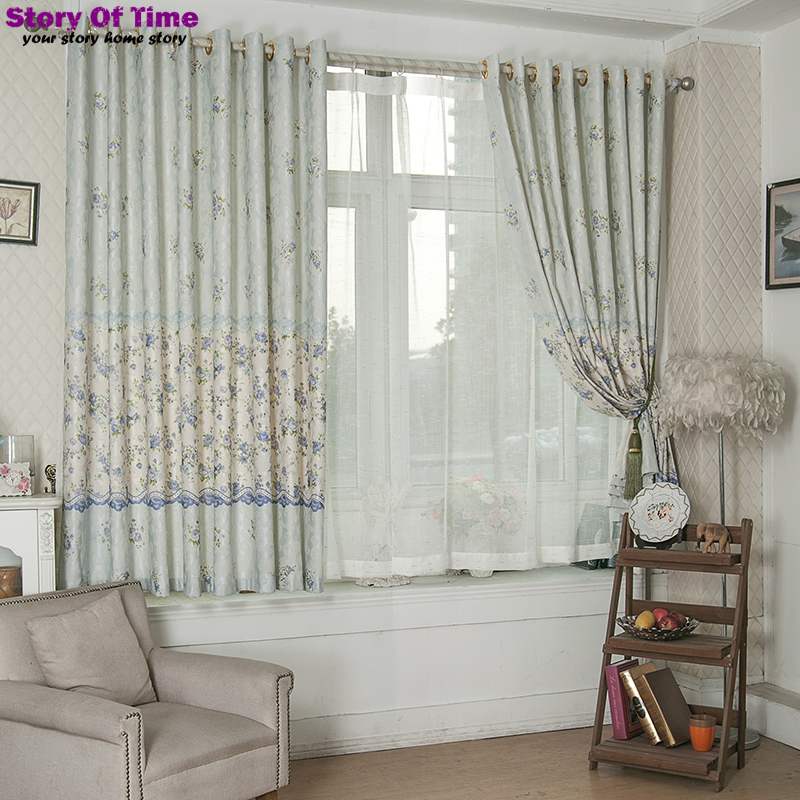 Brand New floral print curtains style jacquard drapes insulated blackout curtains lace curtains living room curtain drapery(China (Mainland))