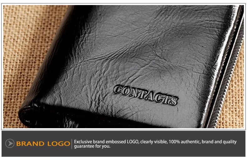 Гарантия Натуральная Кожа 2015 Новых Классическая Винтажном Стиле Мужчины Кошельки Бумажник Мода Марка Кошелек Держателя Карты Бумажник Человек M1002