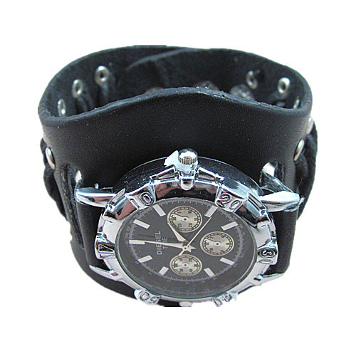 leather bracelet for wristwatches genuine