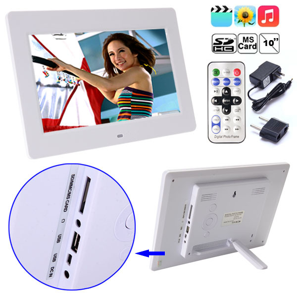 Digital Photo Frame High Definition 1024*768 10 inch LCD Digital Picture Frame Porta Retrato Digital Stock In US(China (Mainland))