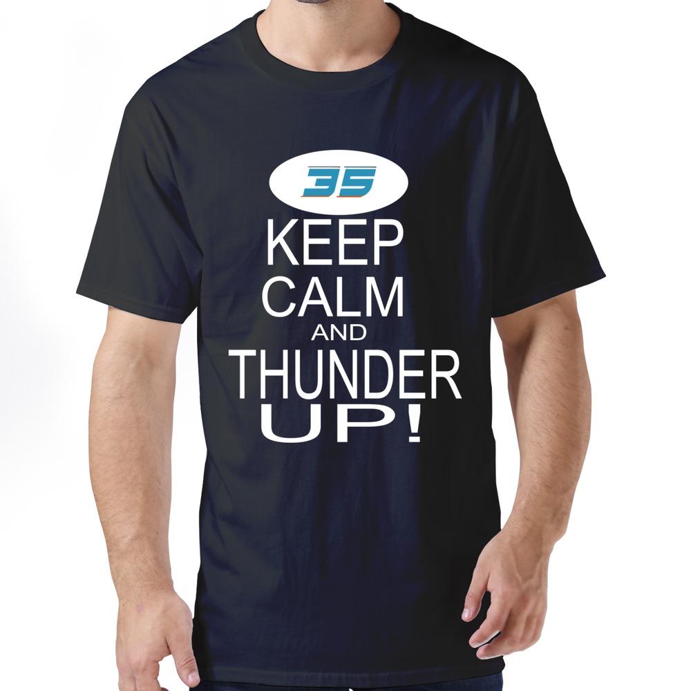 Romance eco friendly t shirt sport keep calm and thunder for Custom t shirts okc