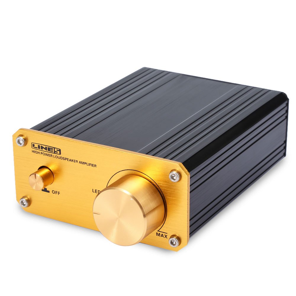 Black Wired Metal 50W Digital Power Amplifier A950 50W Stereo Digital Audio Power Amplifier Aluminum Material(China (Mainland))