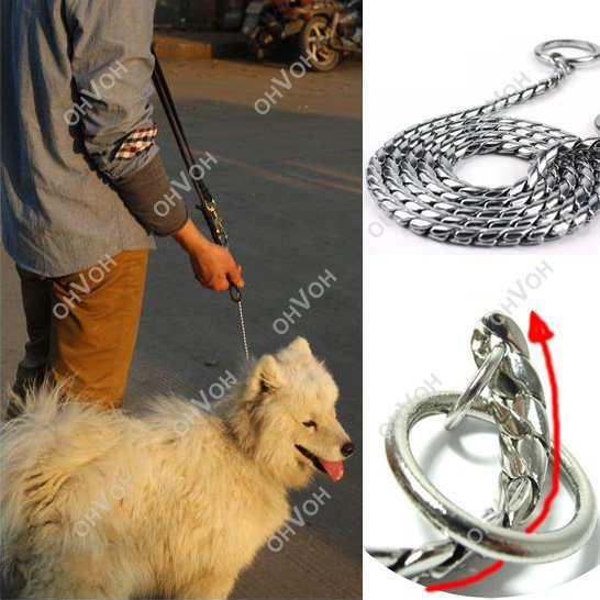 Training Dog Collars Snake P Choke Metal Chain Collar For Medium Large Dog 65cm(China (Mainland))