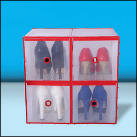 1pcs/lot 28.5x20.5x20cm Transparent Shoe Boxes Clear Plastic PP Storage Box Packaging Box For Shoes For Women High heels 061011(China (Mainland))