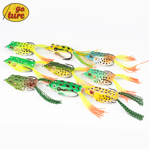 9 Piece Fishing frog Lure for fishing tackle 5.45CM/12.3G Topwater pesca fishing artificial Lure frog bait One Piece(China (Mainland))