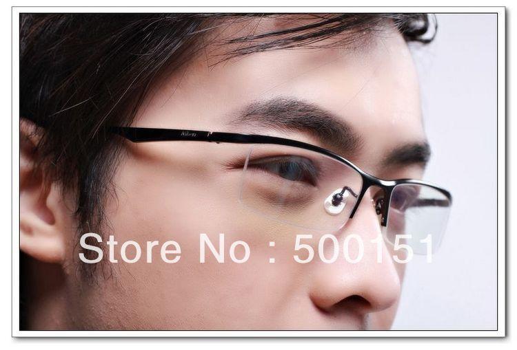 Fill A Prescription Brand Designer Frames Men Glasses For Man B9880 Pure Titanium Semi-Rim Optical Complete Drop Shop eyeglasses(China (Mainland))