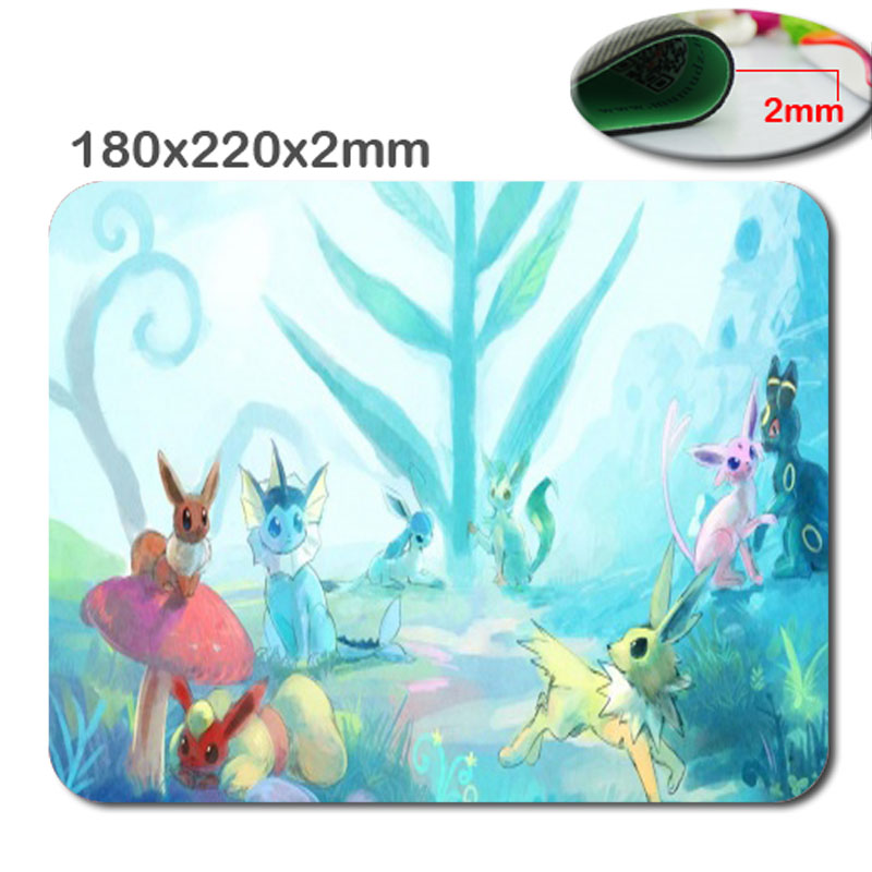 Pokemon Mouse Pad Funny Moment Gaming Office Mouse Pad with Cloth Cover - Non-Slip Rubber Backing - Special-Textured Surface...(China (Mainland))