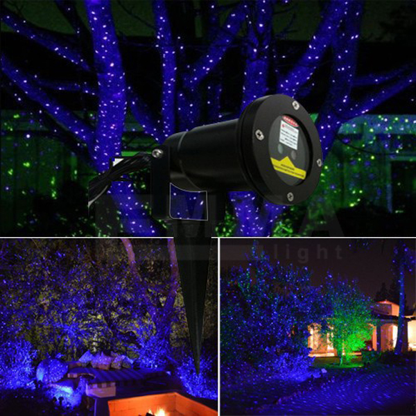 Outdoor elf laser lights for trees blue garden light