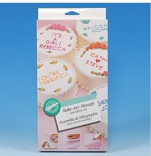 Wilton Cake Decorating Letters : Baking tools wilton letter stamp sugar cake biscuits ...