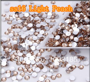 SS16 10000pcs/pack Flat back Acrylic Rhinestones Light Peach Color Nail Art - Rhinestone houses store