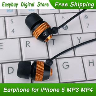 100% Brand New Metal Piston Earphones 3.5 mm Stereo Universal Headset iPhone iPad iPod Xiaomi MP3 - easybuydigital store