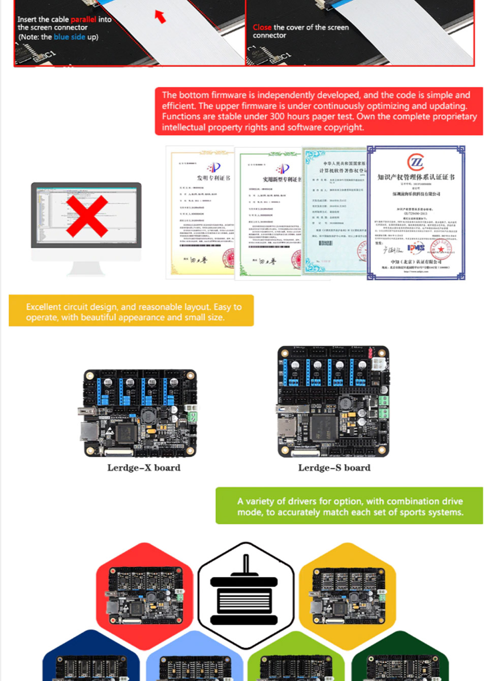 Lerdge X 3d Printer Controller Board For Reprap Motherboard With Arm The Scart Printed Circuit Design Is Copyright C Of Retro Gaming Packaging Details