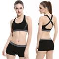 Bra Pants 2015 Cross Back Sports Bra Set No Trace Sleep Without Underwear Running Shockproof