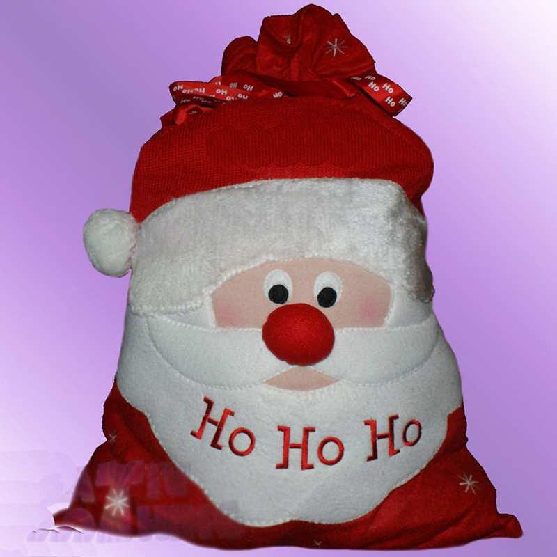 Large Personalised Christmas Santa Father Sacks Red Candy Toy Gift Bag Drawstring Bag(China (Mainland))