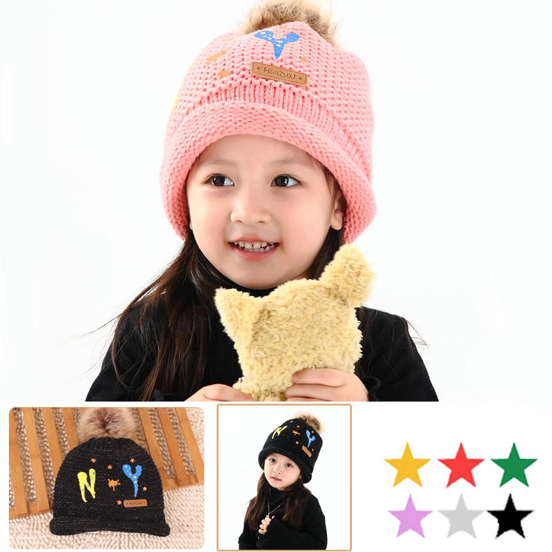 New Baby Kids Toddler Infant Boy Crochet Knit Cute NY Pattern Hat Cap Beanie(China (Mainland))
