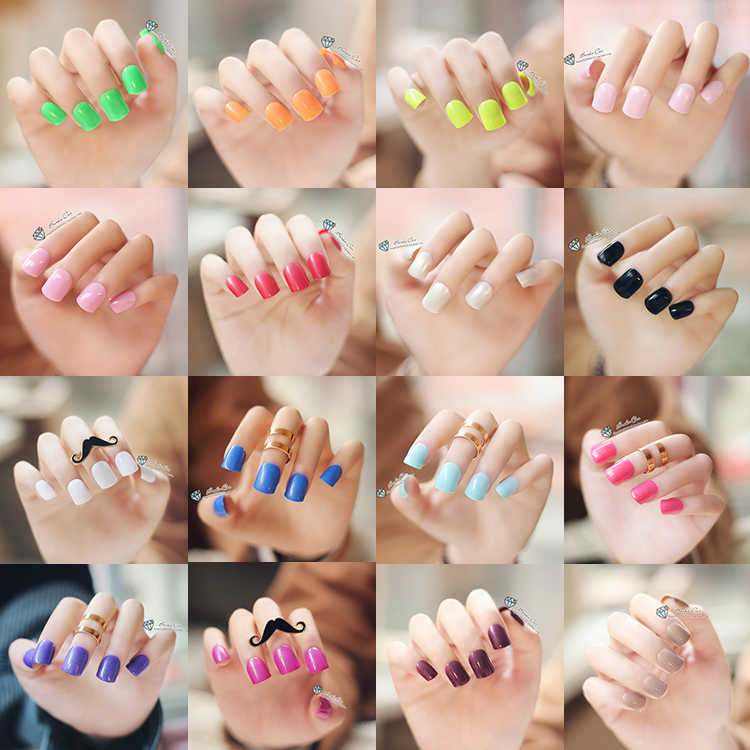 Wholesale French False Nail Tips Fake Nail Art Tip Red Light Purple